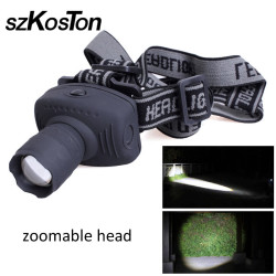 Headlamp Zoomable Head lamp LED head flashlights 3 Modes headlights Torch Flashlight Forehead for Outdoor Sport Camping Fishing
