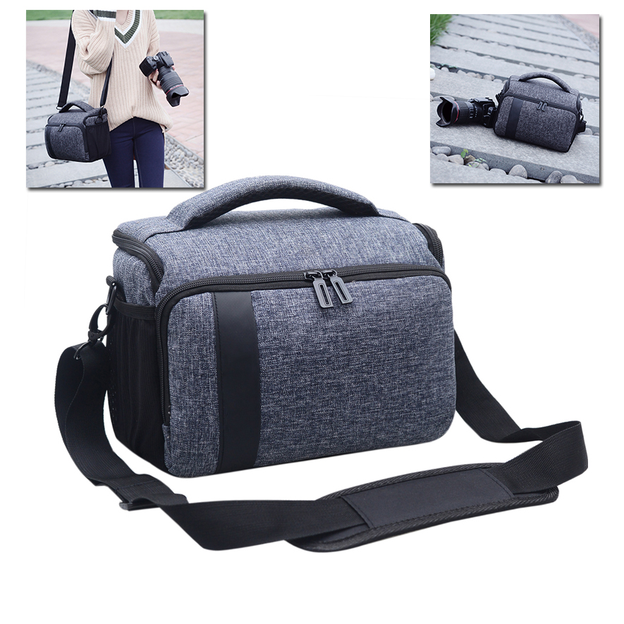 DSLR Waterproof Photo Camera Bag Case For Canon EOS 750D 1300D 5D Mark IV III 800D 200D 6D Mark II 7D 77D 60D 70D 600D 700D 760D huwang dslr camera bag case for canon eos 1300d 5d 6d 7d ii iii 800d 77d 750d 60d nikon d3400 d5300 sony alpha a7 photo backpack