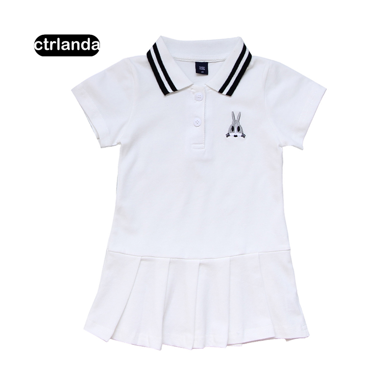 summer children clothes toddler girl 100% cotton polo dresses fashion top brand kid one-pieces casual baby girls mini dress gift