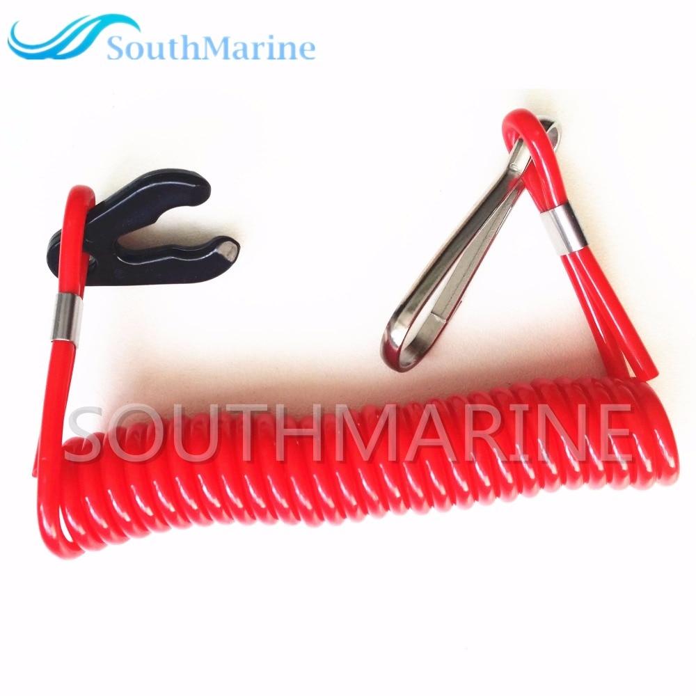 Boat Motor Safety Kill Stop Switch Lanyard for Yamaha / Tohatsu Outboard Motor , Free Shipping