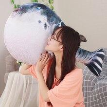 Candice guo, плюшевая игрушка, мягкая кукла, мультфильм, животное, моделирование, фугу, уродливая рыба, Tetraodontidae, подушка, детский подарок, 1 шт