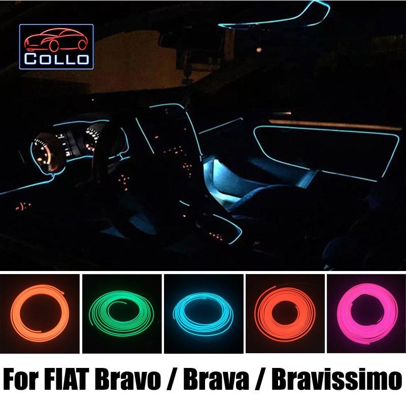 car styling 9m el wire for fiat bravo brava bravissimo car interior romantic atmosphere. Black Bedroom Furniture Sets. Home Design Ideas