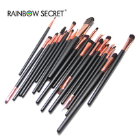 Hot Sale 20 Pcs Makeup Brushes 2 Colors Set Powder Foundation Eyeshadow Eyeliner Lip Cosmetic Brushes