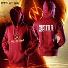 TV star laboratories The FLASH hoodies hoodies men comfortable jacket casual sweatshirt homme