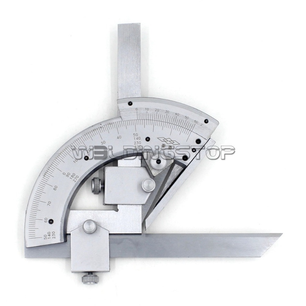 Universal bevel protractor 320 degree angular dial stainless steel angle gauge china