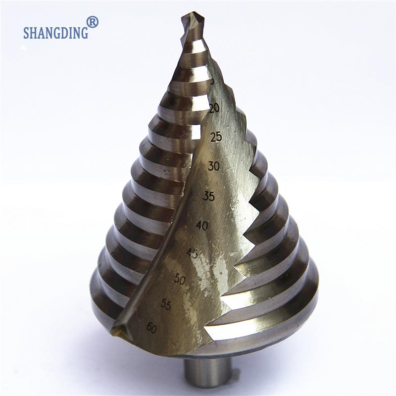 New HSS Step Drill Bits 6mm-60mm cylindrical shank Woodworking Power Tools  Shank Wholesale Price High Quality metal Drilling step drill power tools 3pc drill bit wood countersink hss step drill bits set woodworking power tools metal hole opener