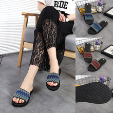 Women's ethnic style weaving summer sandals ladies fashion casual large size indoor outdoor beach shoes female wild zapatos(China)