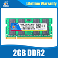 Sodimm ddr2 2gb 800 PC2-6400 200PIN Ram Compatible ddr2 667 PC2-5300 ddr2 533 Memory Ram For Notebook Lifetime Warranty