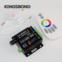 Music Controller Led RGB Music Controller RF Remote Intelligent Sonic Sensitivity Led Backlight Remote Free Shipping