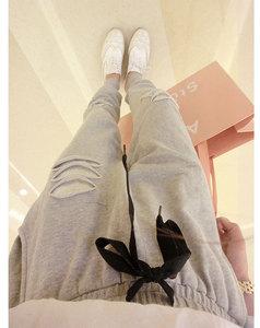 Image 4 - Pantalon Harlan pour femmes, nouvelle taille grande taille, 200 livres, augmentation de la taille, paillettes extensibles, nouvelle collection, printemps automne, pantalons décontractés MZ1104