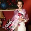2017 new spring 100% silk print scarf woman silk scarves lady silk shawl