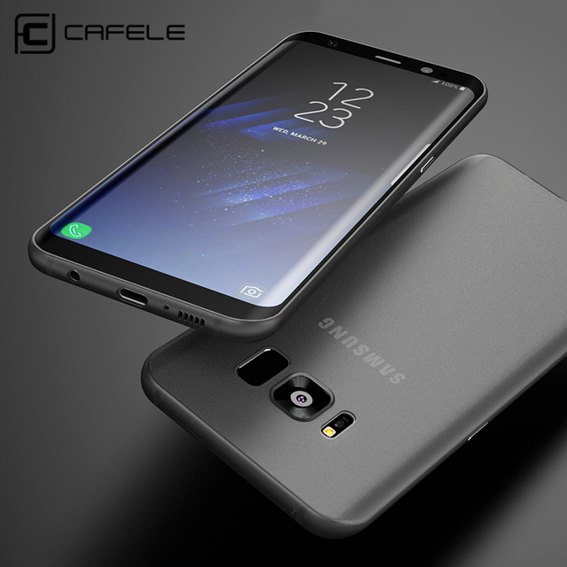 super popular 3e399 b594b US $3.99 20% OFF|CAFELE Scrub PP Silicone Case for Samsung Galaxy S8/S8  Plus Ultra Thin Solid Color Luxury Cover for Samsung Galaxy S8/S8 Plus-in  ...
