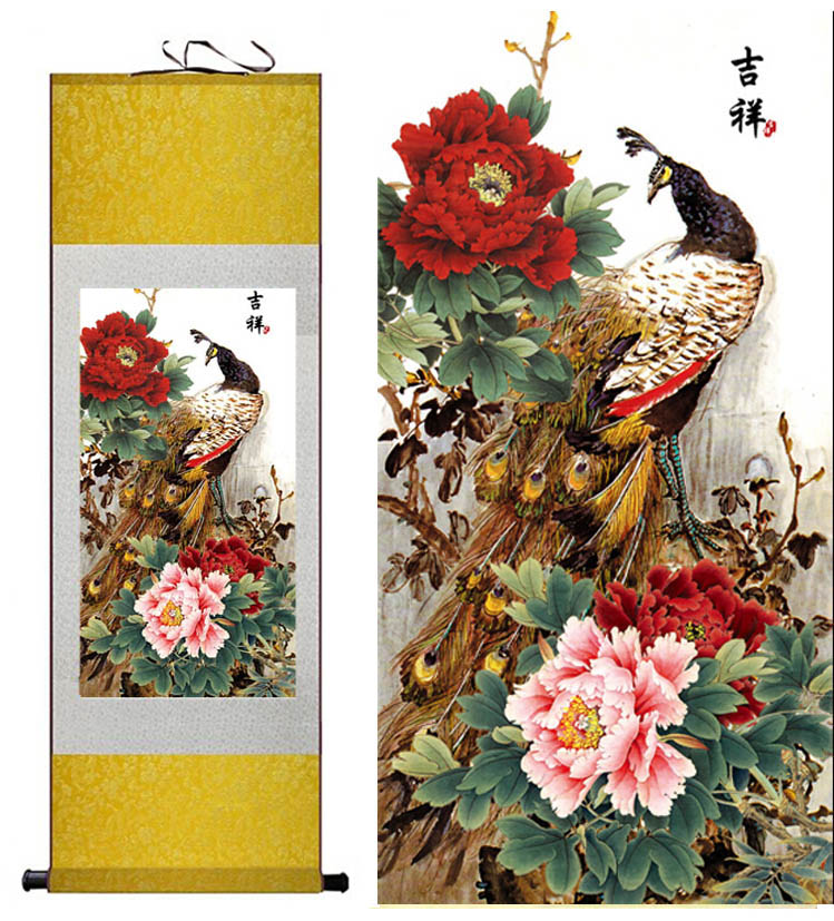 пирожныйлар жібек кескіндеме қытай - Үйдің декоры - фото 2