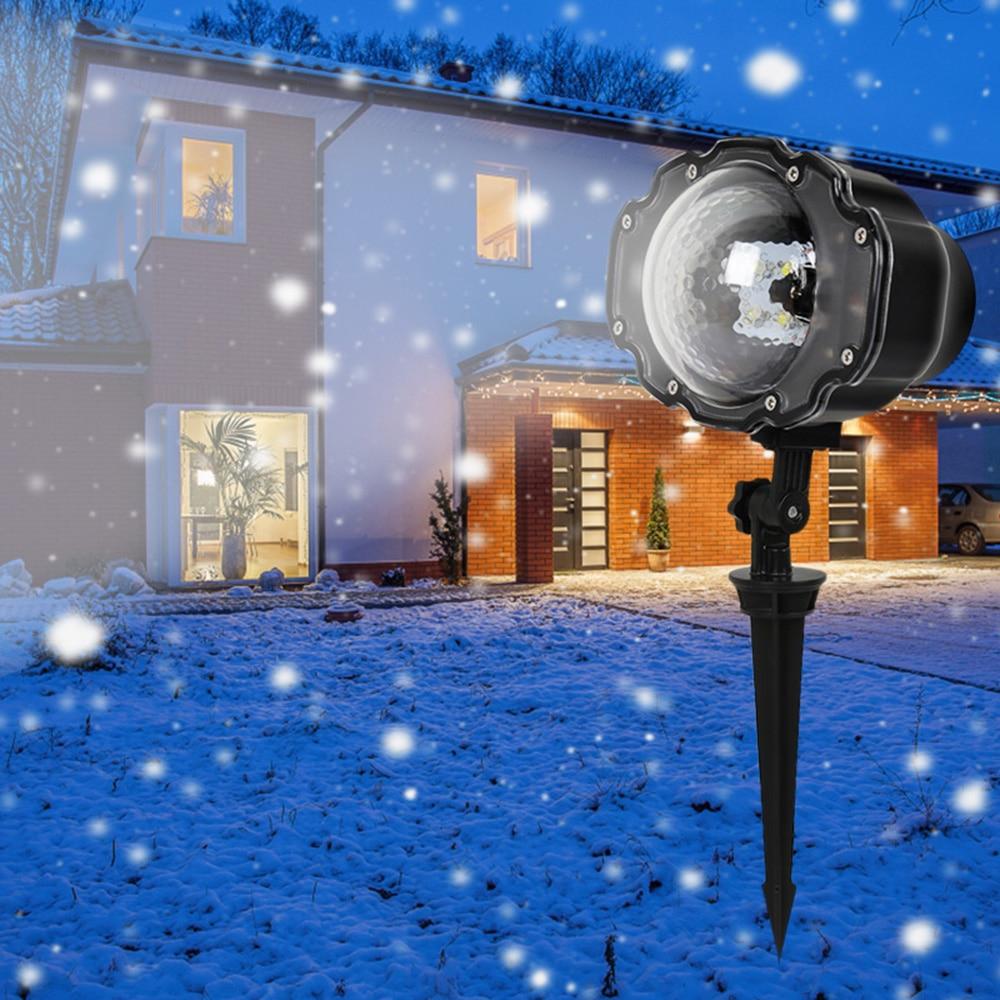 LED Snowfall Light Remote Control Christmas Snow Falling Projector Lights Holiday Light