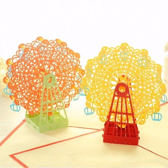 Eccezionale 3D Felice Ferris Wheel Ricordi Cartoline Di Natale Biglietti di  HJ91