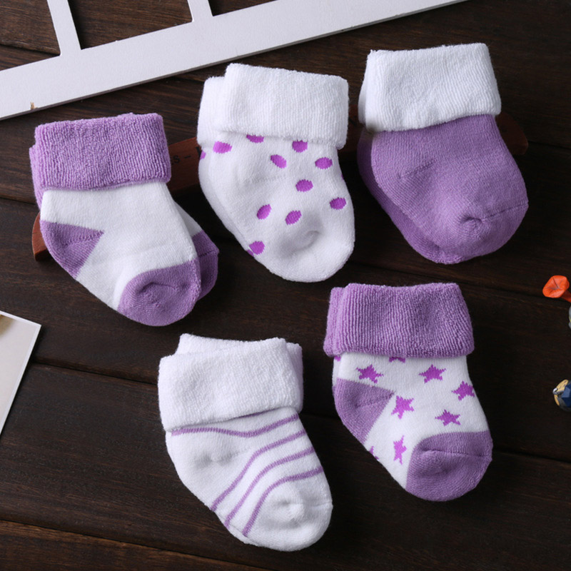 5/6 пара/лот; ; нескользящие носки для малышей; носки для девочек; для мальчиков; 0-12 месяцев - Цвет: SK5009