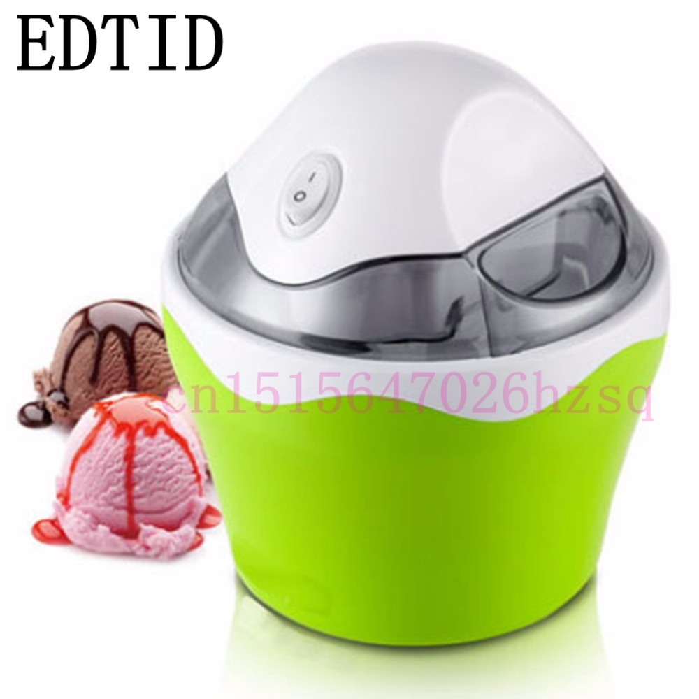 EDTID MINI household ice cream maker automatic machine for DIY Fun,green edtid 12kgs 24h portable automatic ice maker household bullet round ice make machine for family bar coffee shop eu us uk plug