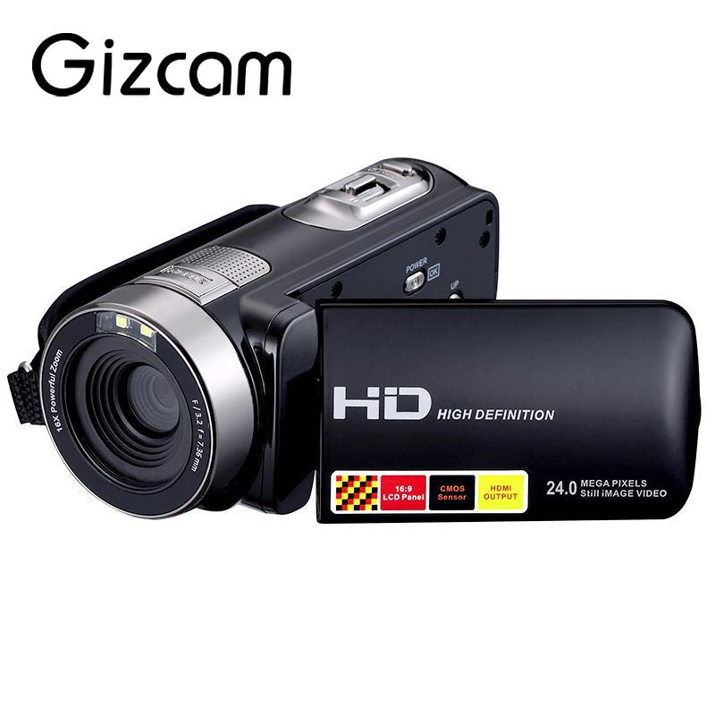 Gizcam Digital Camera 3.0 LCD Touch Digital Video Camera 24MP 1080P HD Camera Digital Support Night-Shot 16X Zoom DVR Cameras 2 lcd hd 1080p mms digital infrared