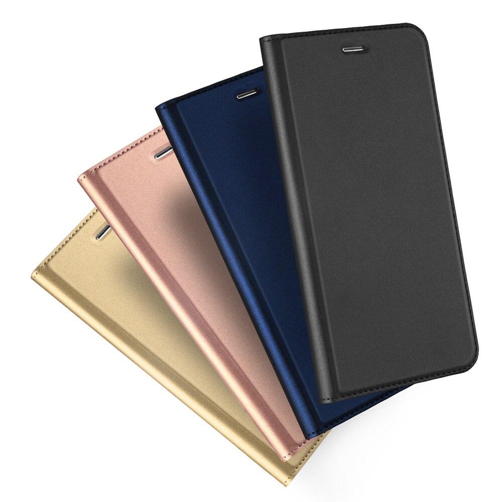 Dux Ducis Magnétique Flip Étui En Cuir pour l'iphone 6 s Cas TPU Fente Pour Carte Stand Wallet Case Cover pour iPhone 6 6 s 7 8 Plus X Hoesjes