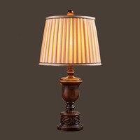 HGHomeart E27 European Retro Desk Lamp LED Luminaria Mesa Study Reading Bed Table Light Romantic 110V/240V Lamps Lighting