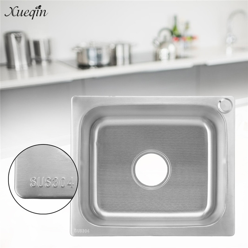 Xueqin 420x360mm Undermount Single Bowl Kitchen Sink Small Inset 304 ...