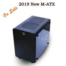 Новый микро ATX игровой системный блок ПК Настольная башня коробка шасси aluminuim корпус Прозрачная панель сторона для геймера корпус
