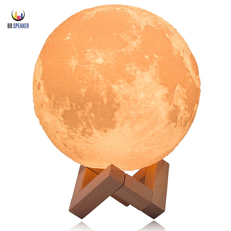 3D Print Moon lamp 2 Color Change Touch Switch Bedroom Bookcase Usb Led Night Light Home 3d lunar moon light lamp BB SPEAKER led night light 7 color changing touch switch bedroom bookcase beside lamp portable for bedroom living room or camping