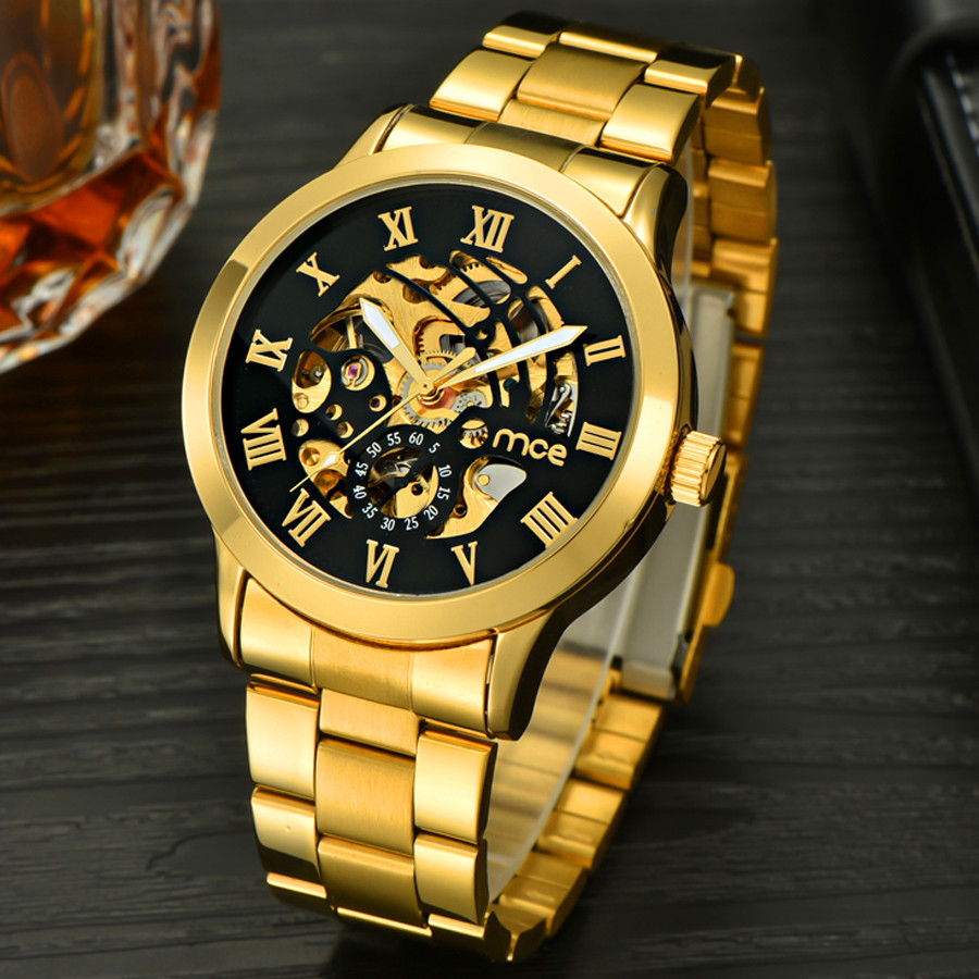 Montre Homme MCE New Number Sport Design Bezel Golden Watch Mens Watches Top Brand Luxury Clock Men Automatic Skeleton Watch цены онлайн