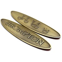 2pcs Bicycle Metal Head Badge Decal Head Post Stem Sticker For Brompton Folding Bike 13g
