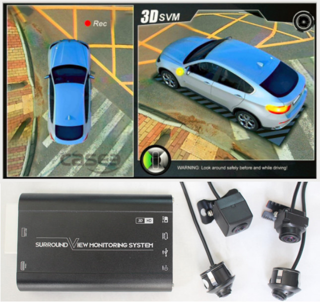 night vision HD 3D AVM 360 car surround view camera monitoring system 1080P multi view