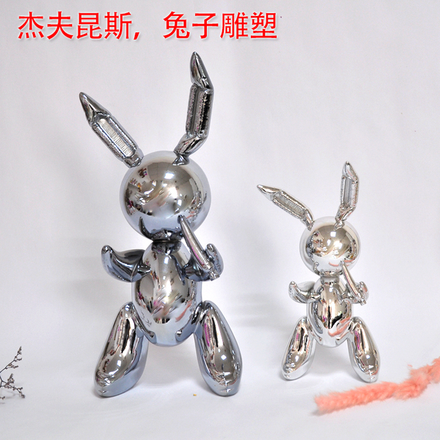 balloon rabbit sculpture home decoration art and craft garden decoration creative statue 3