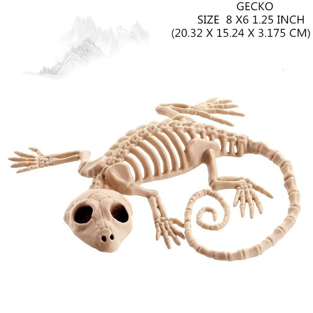 Moquerry Skeleton Snake Skeleton Bones for Horror Halloween Party Bar Home Decor Decoration Accessories Decoration