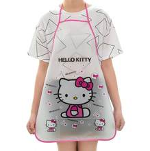 Cartoon Cute Waterproof Cooking Resturant Kitchen Women hello Apron cocina tablier cuisine Kitty rabbit Kids funny bib Baking(China)