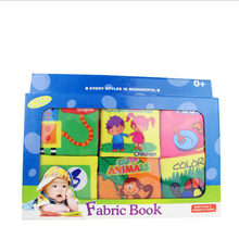 Puzzle Early Education Cloth Book Soft Book For Children Learn Tear Not Bad Fabric Book With Gift Box(China)