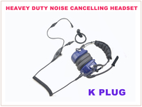 K Plug Heavy Duty Noise Cancelling Headset for Baofeng Pofung Wouxun Portable Two way Radio Walkie Talkie Transceiver