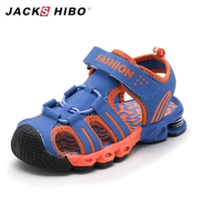 JACKSHIBO Kids Sandals Summer Children Beach Water for Boy Close Toe Anti-skid Sandalias New Design