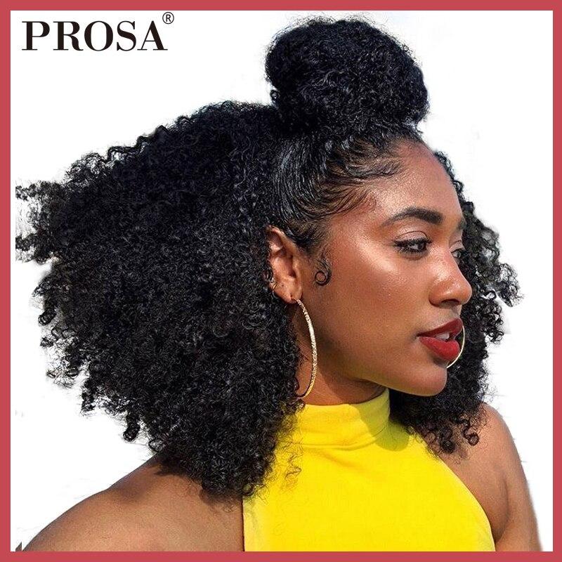 Clip Dans Les Cheveux Humains Extensions 4B 4C Afro Crépus Bouclés Clip Ins Brésilienne Remy Cheveux Pleine Tête 7 pcs/lot 120g Prosa Cheveux Produits