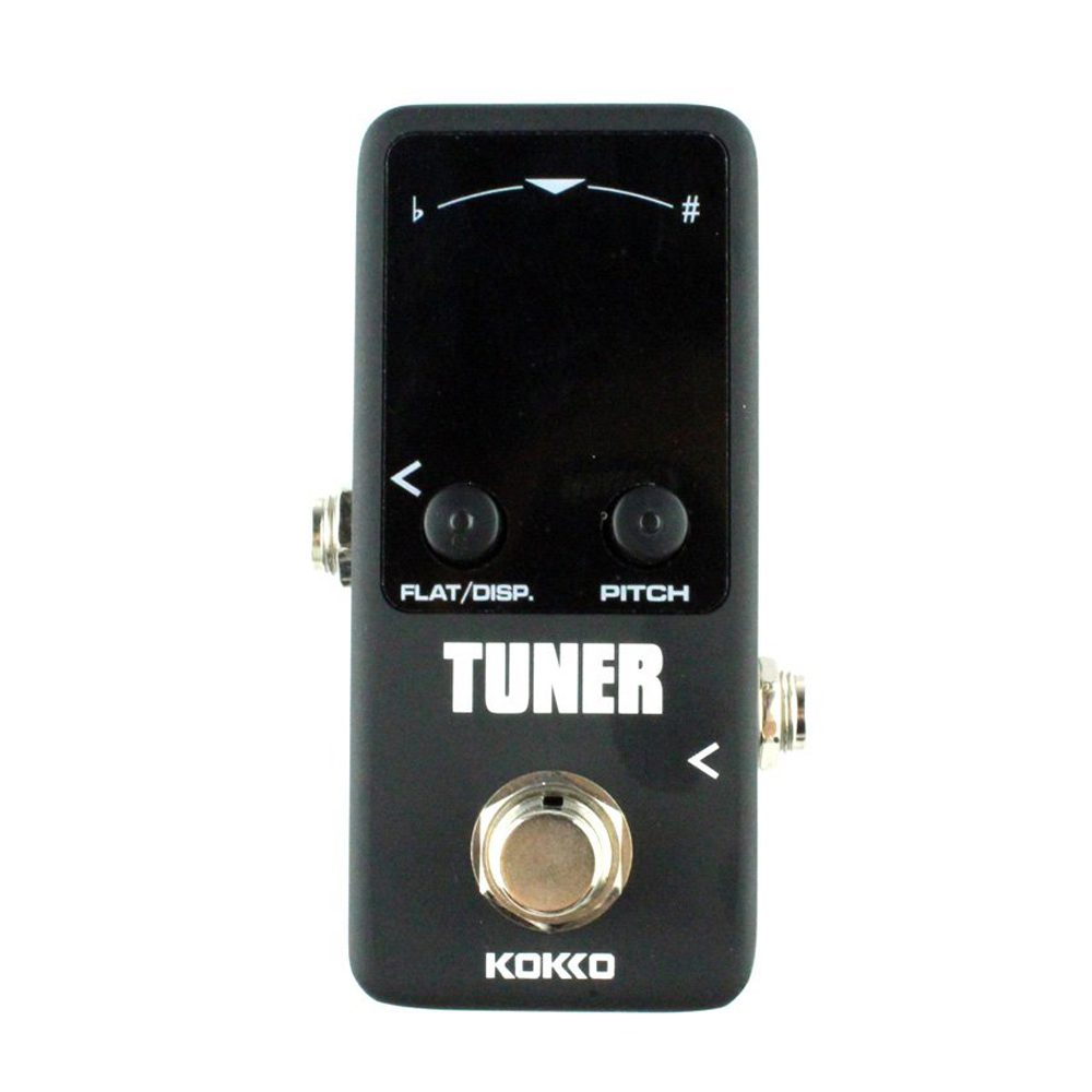 hot kokko guitar mini effects pedal tuner chromatic tuner pedal high definition color screen. Black Bedroom Furniture Sets. Home Design Ideas