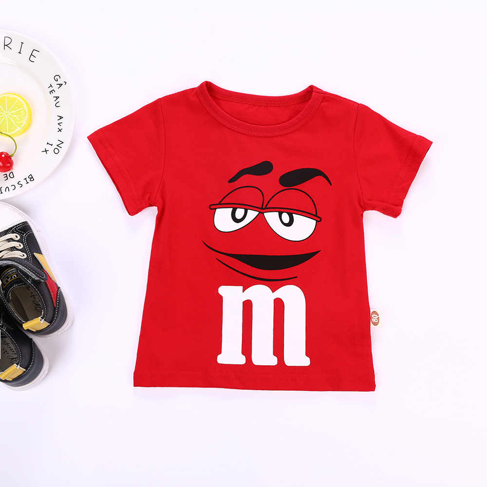 a7327c51bcd ... Kids Summer Shirt Short Sleeve T-shirt Boy M&M's Character Girl Tops  Fashion Children T ...
