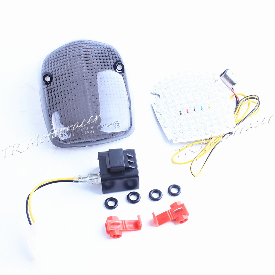 Integrated LED Tail Light Turn signal Lamp For Honda SHADOW ACE 750 02-03 AERO 98-02 SABRE 1100 00-08 Smoke Replacement New
