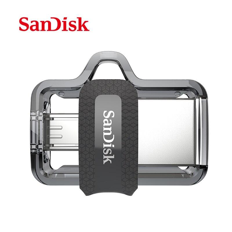 Véritable SanDisk Ultra Double OTG usb flash drive SDD2 130 M/S 16 gb 32 gb 64 gb USB 3.0 pen Drive pour tous Android téléphone/table PC