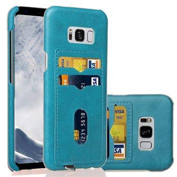 Galaxy S8 Plus Case Blue Card Holder