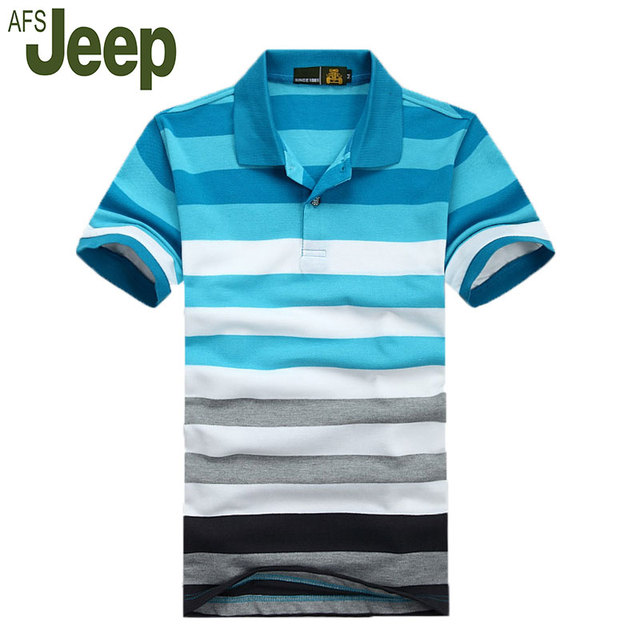 Afs Jeep / Jeep Battlefield 2016 summer new men's short-sleeved polo shirt fashion classic men's business casual polo shirt 55