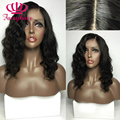 Hot Short Wavy Lace front wig glueless black heat resistant synthetic lace front wig for black women synthetic loose wavy wigs