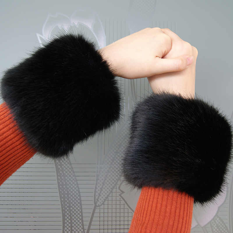 Harga Murah! Pasangan! Imitasi Fox Bulu Manset Hangat Tinggi Imitasi Bulu Rubah Manset Lengan Hangat Gelang Wanita Bulu Palsu Gelang Sarung Tangan