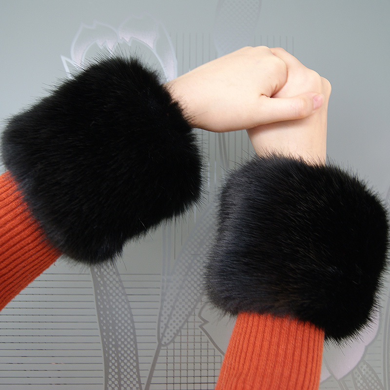 Low Price ! Pair Sale! Faux Fox Fur Cuffs Warmer High Imitation Fox Fur Cuff Arm Warmer Lady Bracelet Fake Fur Wristband Glove