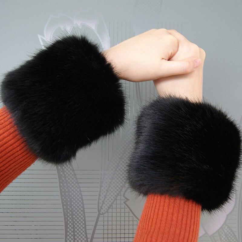 Low Price ! Pair Sale! Faux Fox Fur Cuffs Warmer High Imitation Fox Fur Cuff Arm Warmer Lady Bracelet Fake Fur Wristband Glove