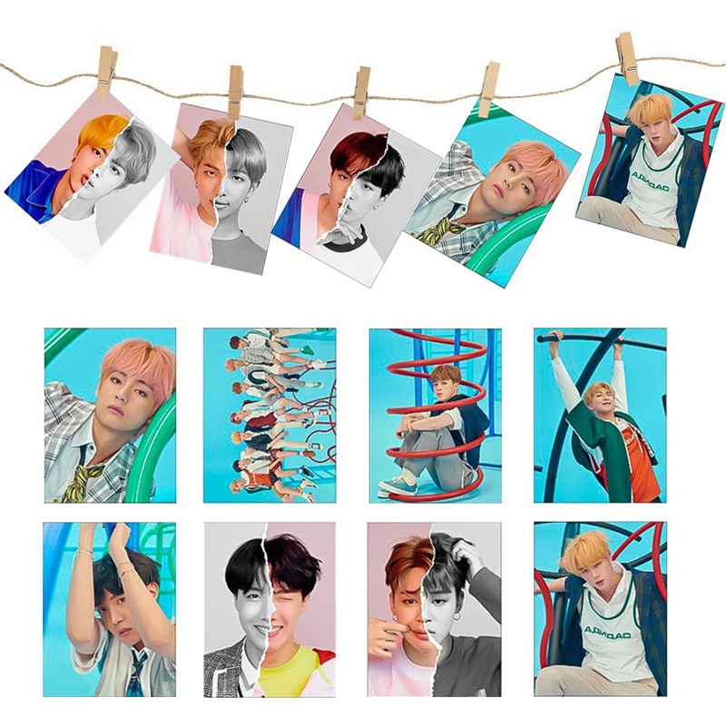 Letter Pad / Paper Office & School Supplies Diligent 16pcs/set K-pop Bts Bangtan Boys Love Yourself Answer New Album Self Made Paper Lomo Cards Photo Cards Clients First
