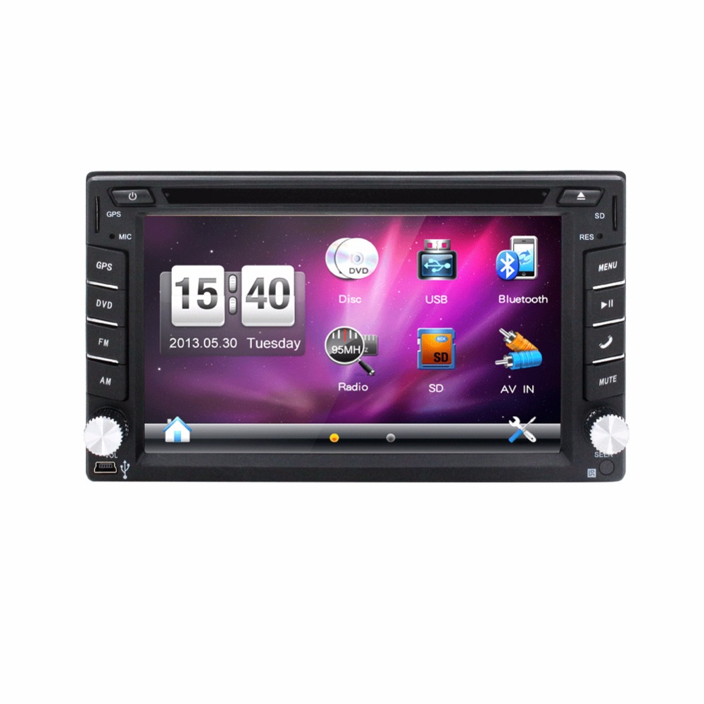100% New universal Car Radio Double 2 din Car DVD Player GPS Navigation In dash Car PC Stereo video+Free Map+Free Camera 6 2 inch 2 din in dash car dvd player gps navi system for old toyota universal vios rav4 collora sequoia yaris hiace highlander