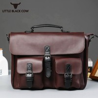 Retro Casual Crossbody Big Capacity Bag Men Fashion Panelled Zipper Shoulder Bag Men Handbag for Document Briefcases Portfolio
